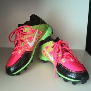 Nike Hyperdiamond Little Girls Softball Cleats 13C
